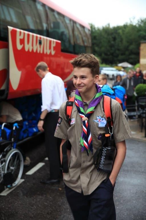 Leaving for the 23rd World Scout Jamboree